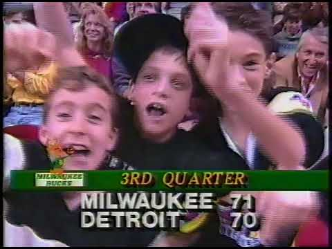 Milwaukee Bucks @ Detroit Pistons 12/14/88 Part 2 WCGV Channel 24