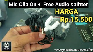 UNBOXING dan Riview microphone dan audio Splitter