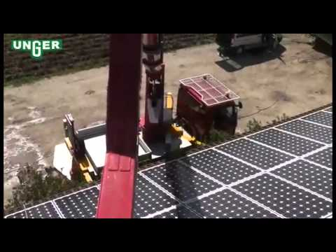 How To Clean Solar Panels >> Solar Panel Cleaning Tools, How to Clean Solar Panels with Water - YouTube