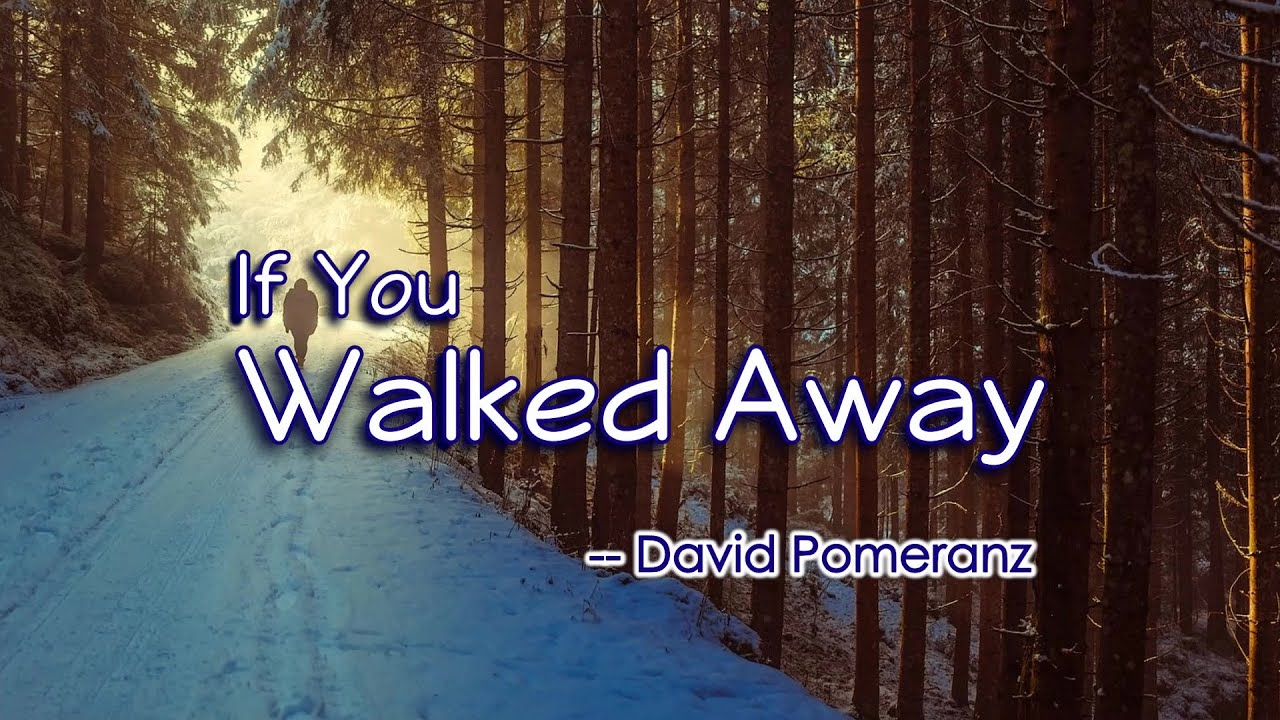 If You Walked Away - KARAOKE VERSION - as popularized by David Pomeranz
