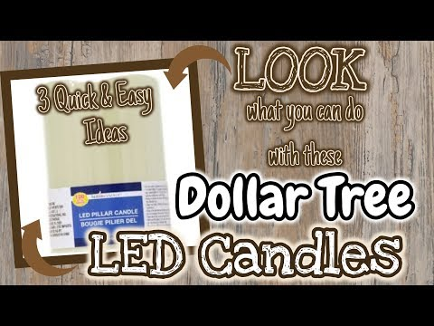 LOOK What You Can Do With These Dollar Tree LED CANDLES | 3 QUICK & EASY Ideas