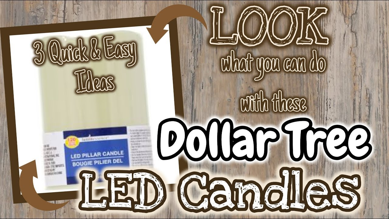 Look What You Can Do With These Dollar Tree Led Candles 3 Quick