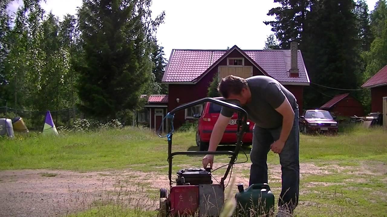 Miten ruohonleikkuri käynnistetään