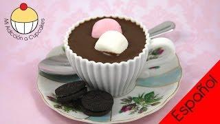¡Haz un  Cupcake que parece una Taza de Chocolate Caliente!
