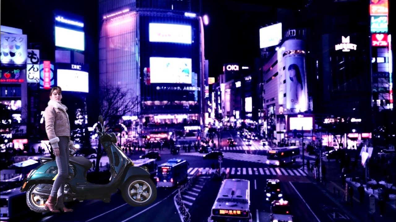 Solo Touring Vespa in Shibuya |Full Ver.【本編】