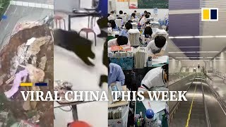 Viral China this week: Massive stretch of road collapses in China