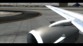 fsx flight simulator x hd landing las vegas i7 oc 3 80 ghz and ati 4870 hd x2 v2 fs dream team