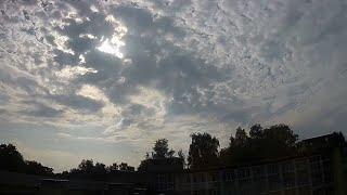 Time-lapse video of altocumulus clouds