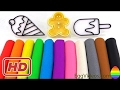 Learn Colors Play Doh Ice Cream Popsicle Fun and Creative for Kids Finger Family Nursery Rhymes Disn