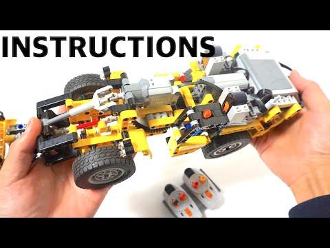Lego Technic 42049 Full Rc Mod Instructions A Model Mine Loader
