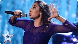 Jess Robinson gets the party started with her impressions   Semi-Final 5   Britain's Got Talent 2017