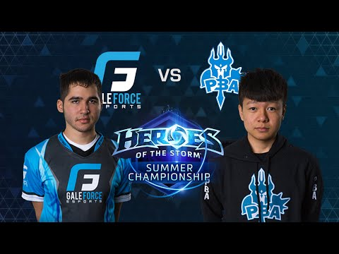 HOTS - Gale Force eSports vs Please Buff Arthas - Game 1 - Group B - Global Summer Championship