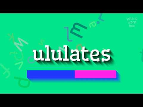 """How to say """"ululates""""! (High Quality Voices)"""