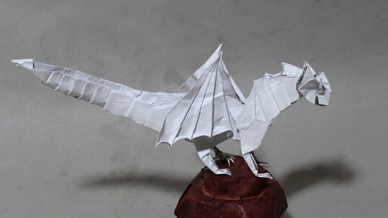 Origami dragon 50 tutorial diy henry phm youtube jeuxipadfo Image collections