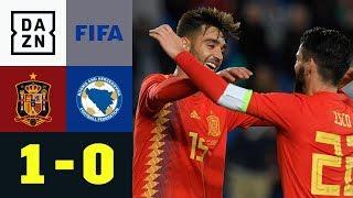 Brais Mendez mit Debüt und Tor: Spanien - Bosnien Herzigowina 1:0 | Testspiel | DAZN Highlights