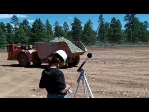 Acoustical Consulting mining noise test and environmental noise measurements