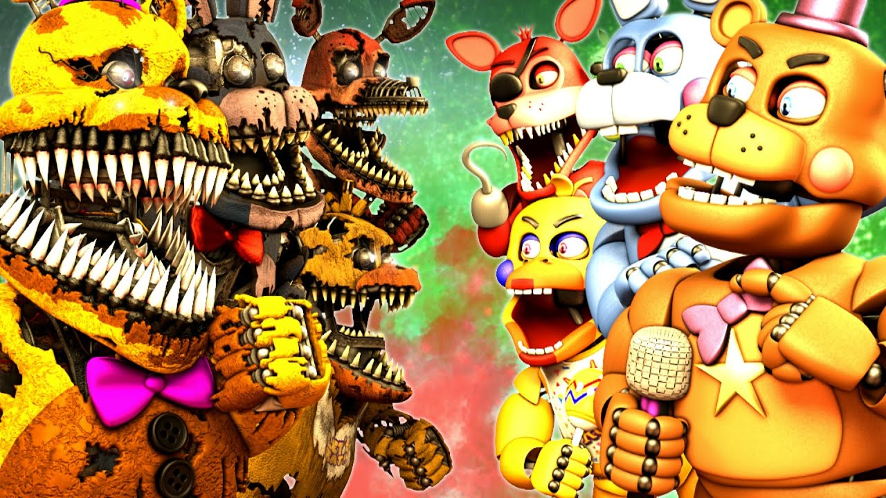 [SFM FNAF] Nightmare VR vs Rockstar