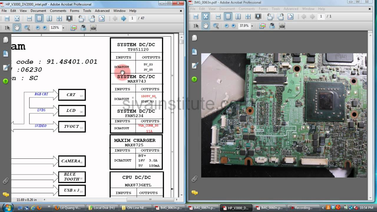 Laptop Motherboard Repair Chip Level How To Check Dead Board Eng Labeled Diagram Youtube