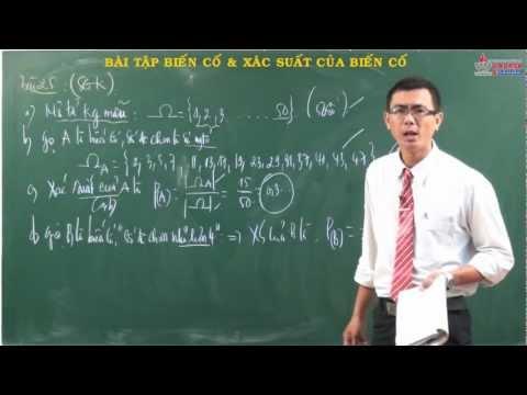 Đại số - Giải tích 11 - Bài tập - Biến cố - Xác suất của biến cố - Cadasa.vn