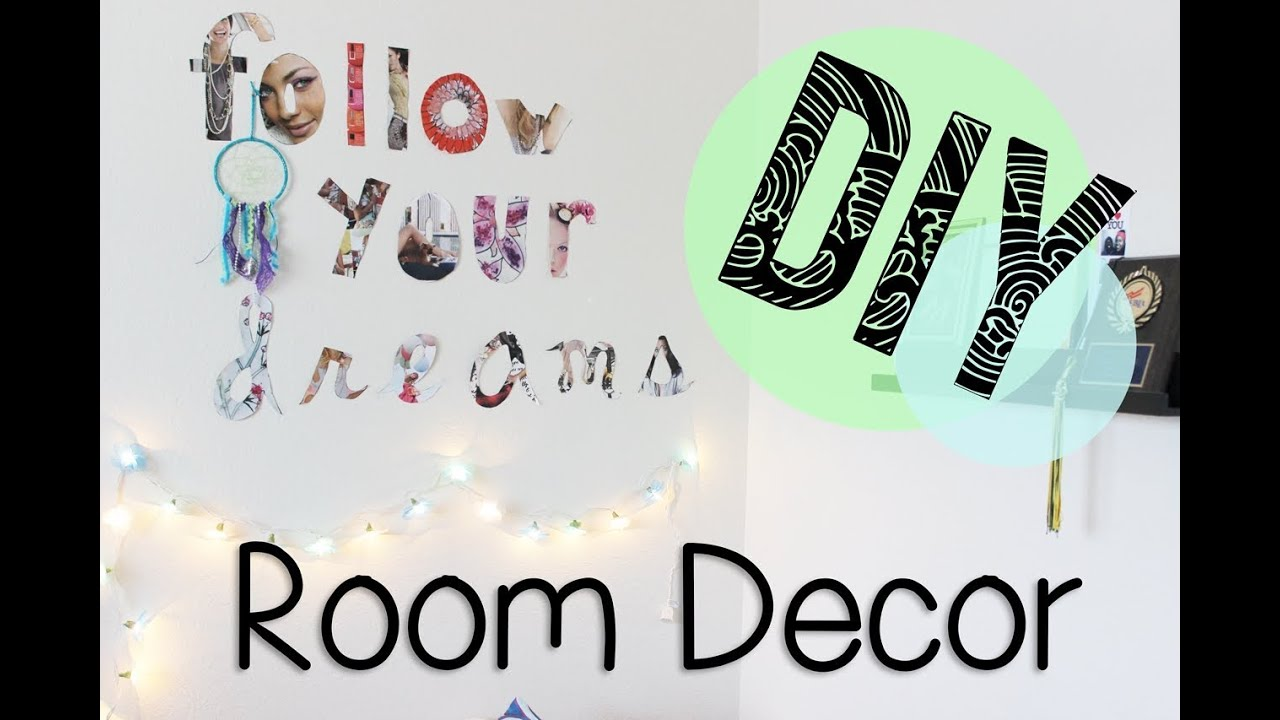 Small Room Decorating Magazine Subscription DIY Friday Room Wall Decor With Magazine Letters YouTube