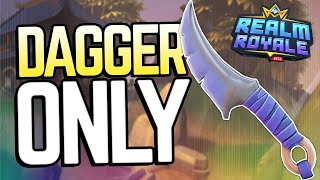 NO WEAPONS WIN vs SQUADS Realm Royale Challenge