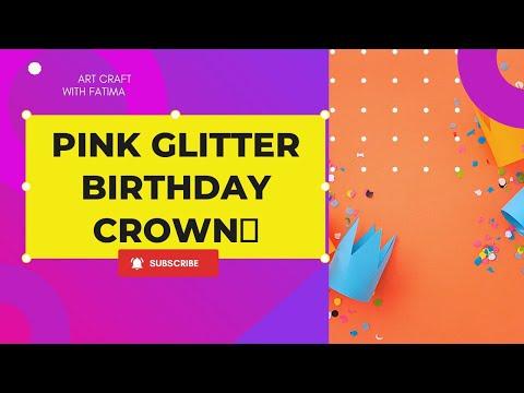 Birthday crown DIY~ 生日皇冠|| 5 minutes craft
