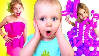 Five Kids Dress Up Song + More Nursery Rhymes & Children's Songs