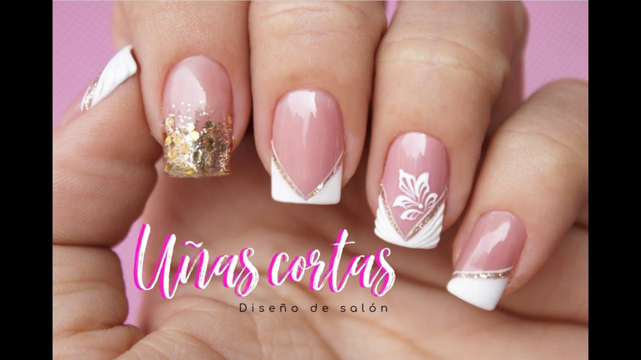 Diseño de uñas salón uñas Cortas♥ Deko Uñas - Easy gel polish Nail art