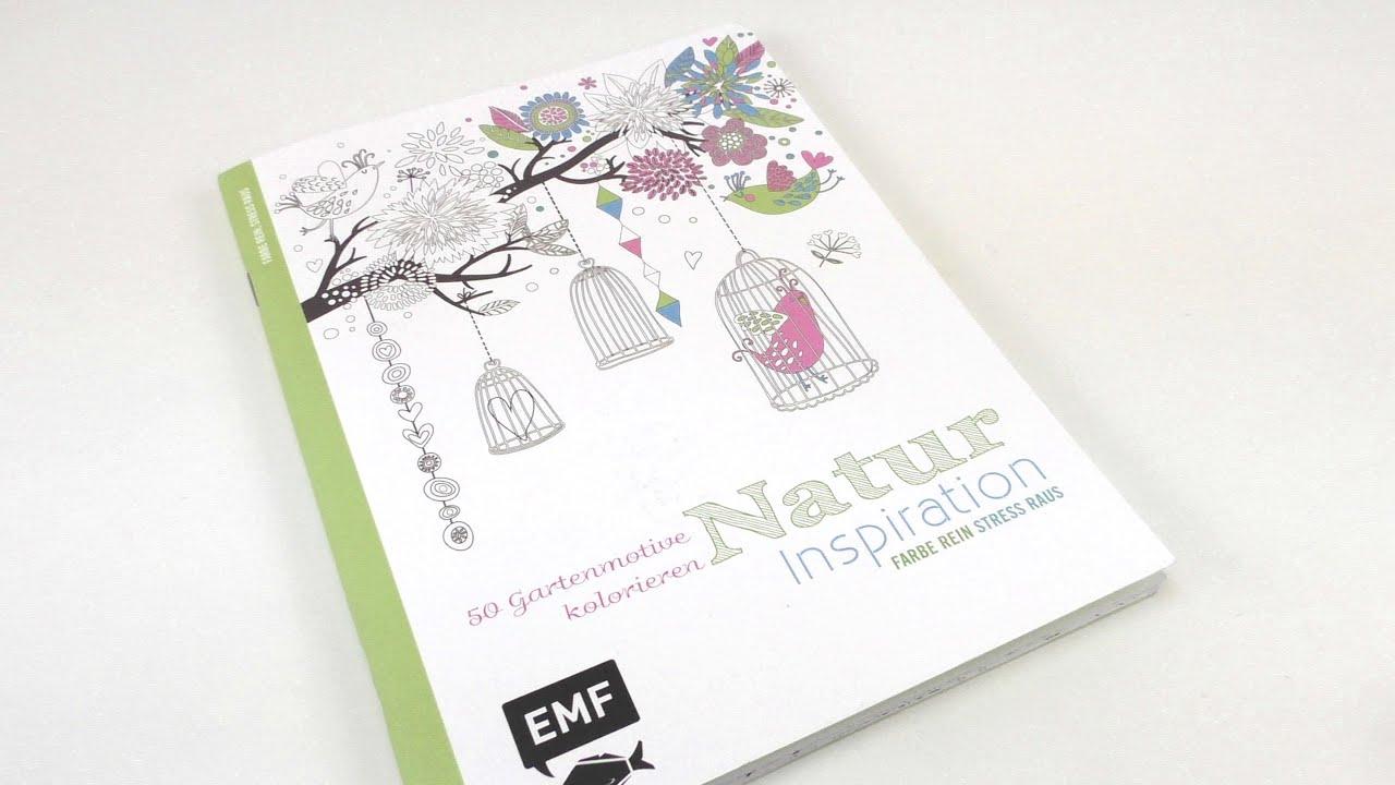 Malbuch Natur Inspiration / EMF Buch zum kolorieren für Erwachsene ...