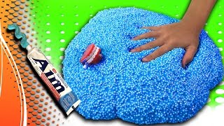 Floam Slime with Toothpaste! GIANT DIY Toothpaste Slime Recipe