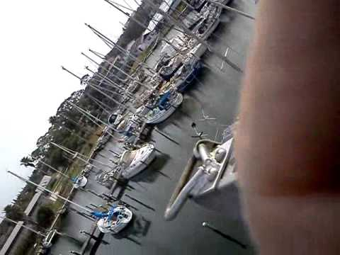 Up the mast of my sailboat