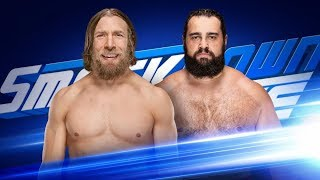 Daniel Bryan VS Rusev , mens money in the bank qualifying match SMACKDOWN live may 8 2018