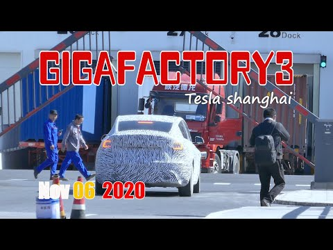 MIC Model Y has begun road testingTesla gigafactory 3 4K