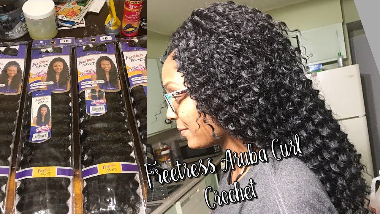 Freetress Aruba Curl 20 Quot Crochet Braids Youtube