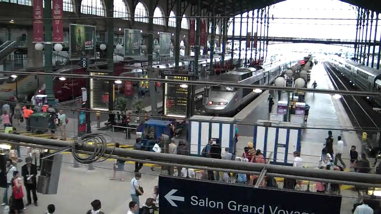 paris gare du nord tgv x25 youtube. Black Bedroom Furniture Sets. Home Design Ideas