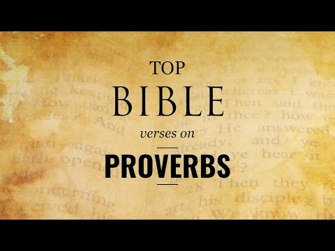 Top Bible Verses on Proverbs - My son keep my words and