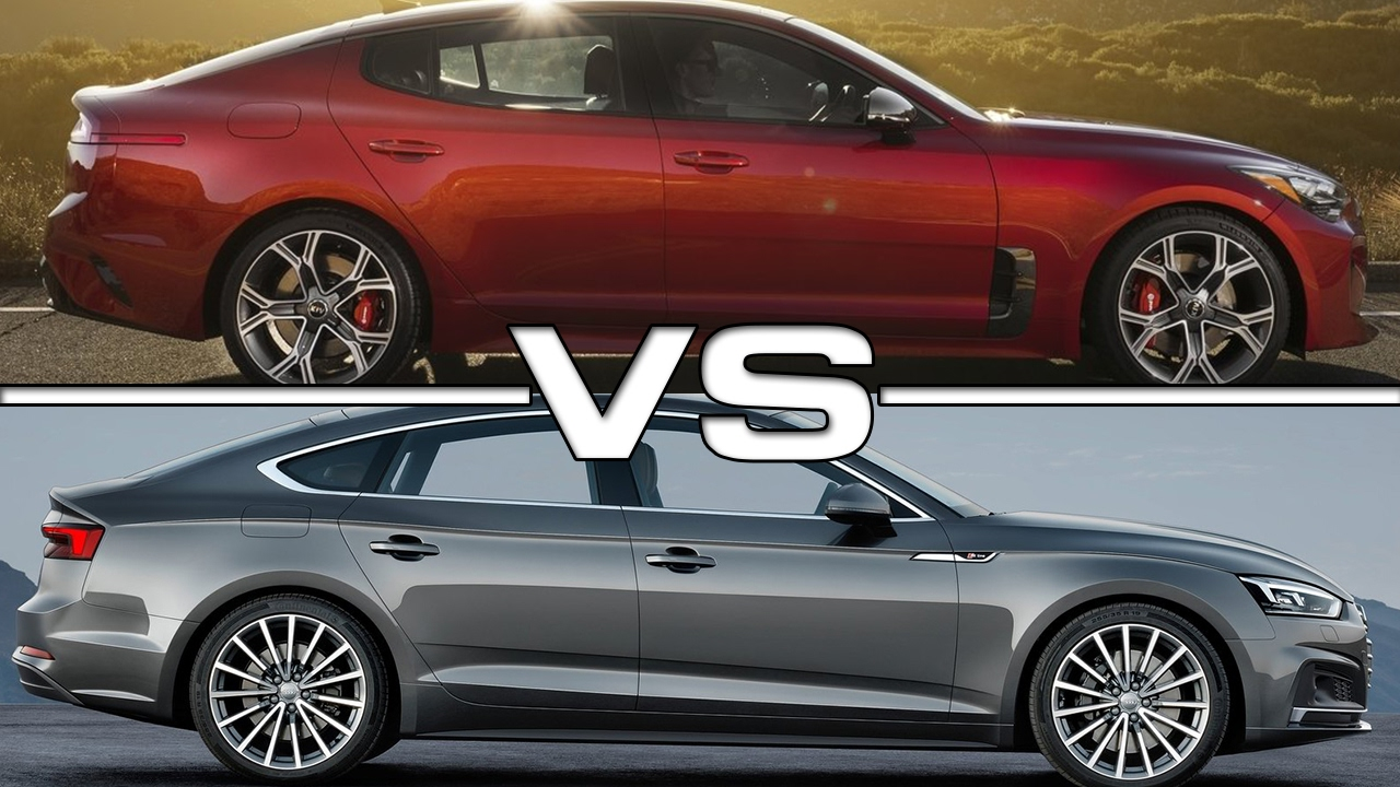 2018 Kia Stinger Vs 2017 Audi A5 Sportback Youtube