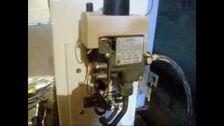 Регулировка пламени пилотной горелки (запальника) котла автоматика EUROSIT 630.