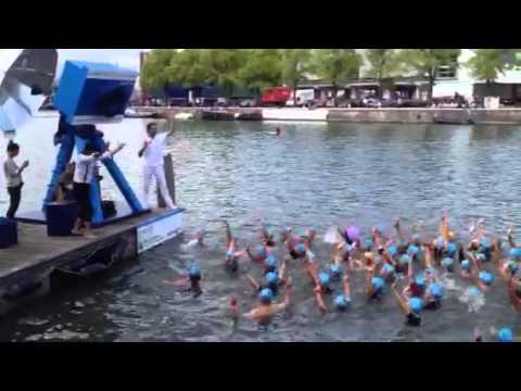Actie waternet Amsterdam city swim