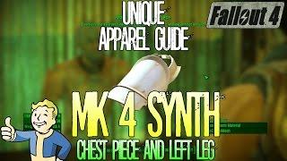 Fallout 4 | Mk 4 Synth | Chestpiece and Left Leg | Unique Rare Apparel | Location Guide