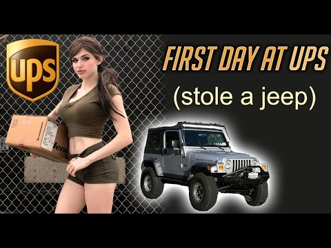 My First Day At UPS (Hijacked a JEEP!)