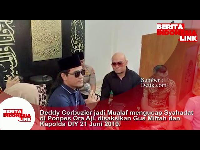 Deddy Corbuzier jadi Mualaf mengucapkan Syahadat diPonpes Ora Aji, disaksikan Kapolda DIY