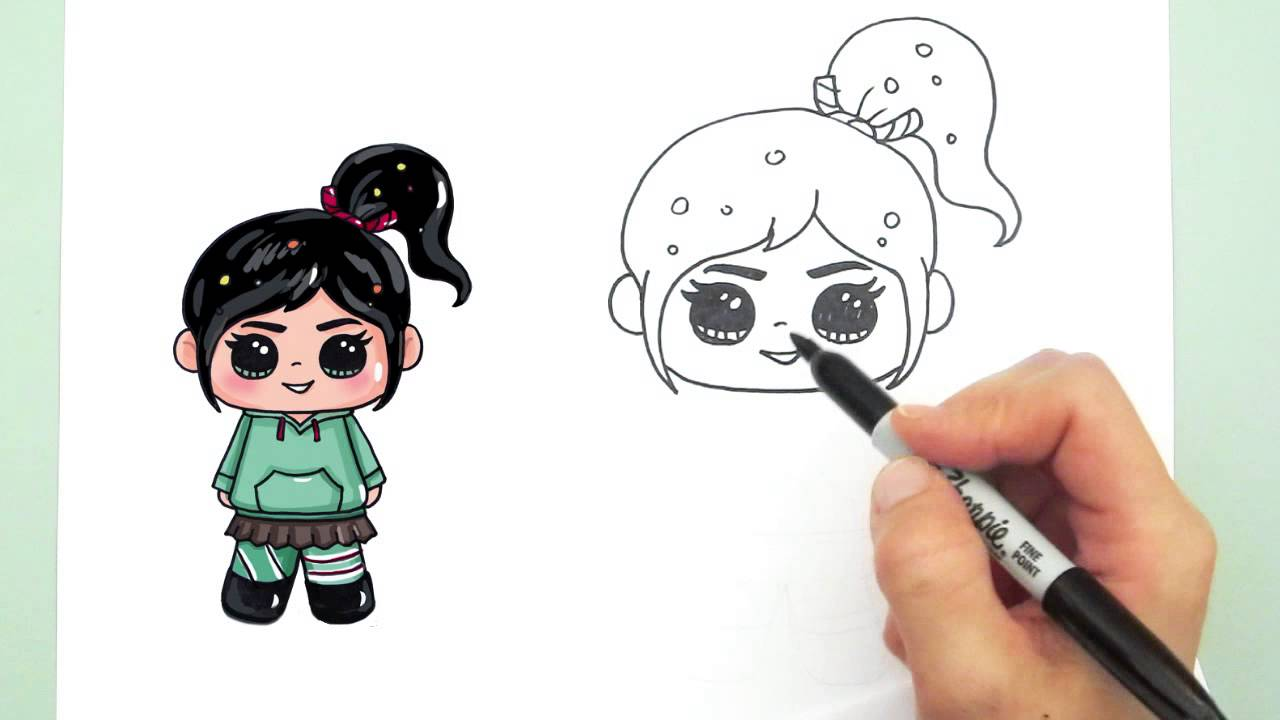 How To Draw Vanellope Youtube