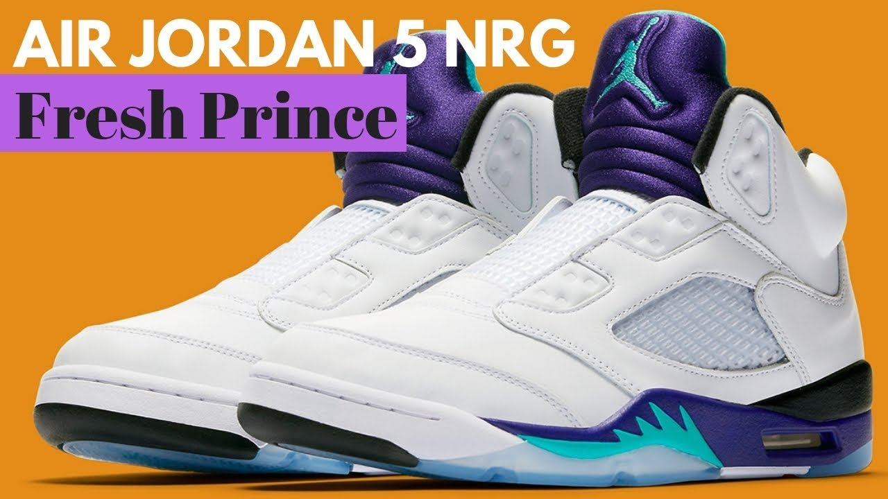 Official Images Of The Air Jordan 5 NRG Fresh Prince - YouTube f2e9a4117