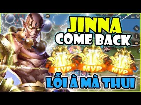 Liên Quân | Jinna Come Back Team Bạn Hồi Sinh Không Kịp Để Giết - Duy Nhất 1 Combo 1 Mạng Siêu Phê