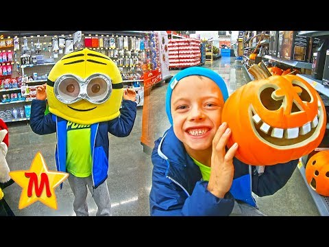 Max Goes Shopping For Halloween Kids Costume