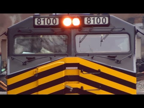 Almost 2 Hrs of Foreign Power / Lease Engines on CSX & NS Trains