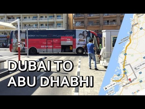 How to Travel from DUBAI to ABU DHABI | 25 AED Bus Road Trip