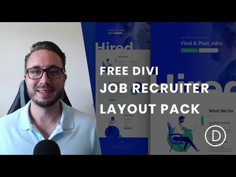 Get an Astonishing Job Recruiter Layout Pack for Divi