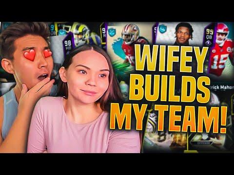 MY WIFEY BUILDS MY MADDEN TEAM! Madden 20 Ultimate Team